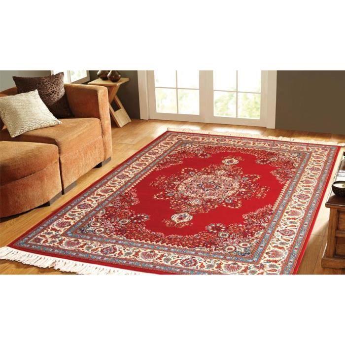 tapis classique en laine keshan 0002 rouge cm achat vente tapis cdiscount. Black Bedroom Furniture Sets. Home Design Ideas