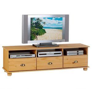 Meuble tv pin achat vente meuble tv pin pas cher cdiscount - Meuble tv en pin pas cher ...