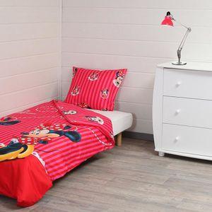 linge de lit minnie achat vente linge de lit minnie pas cher cdiscount. Black Bedroom Furniture Sets. Home Design Ideas