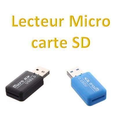 lecteur noir carte m moire adaptateur micro sd t prix pas cher cdiscount. Black Bedroom Furniture Sets. Home Design Ideas