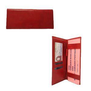 Porte ch quier long cuir heladio rouge rouge achat - Porte chequier long ...