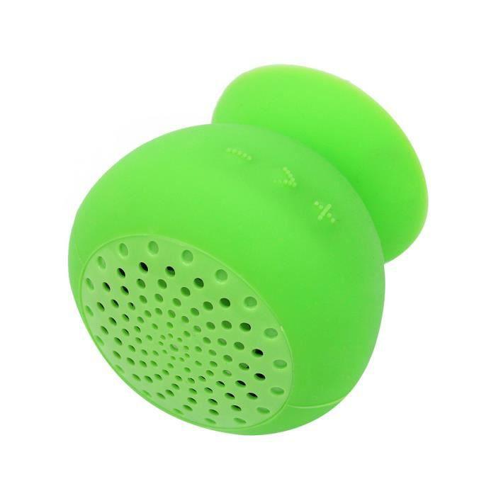 bluetooth speaker enceinte haut parleur sans fil ventouse silicone interface usb enceintes. Black Bedroom Furniture Sets. Home Design Ideas