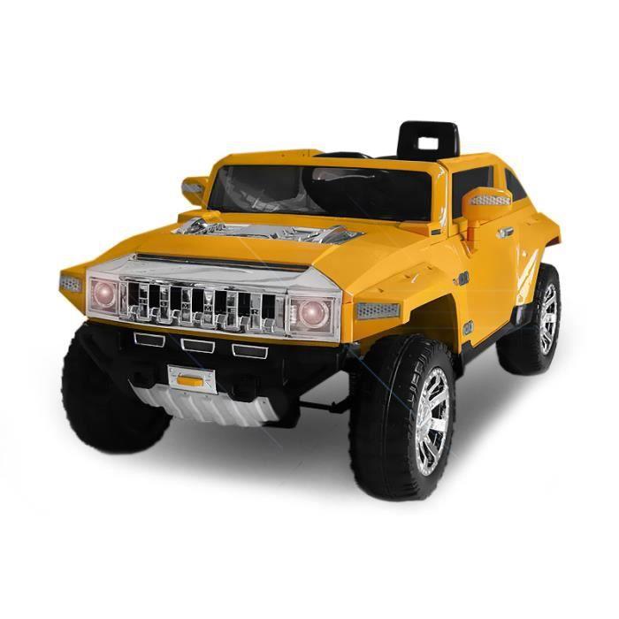 voiture lectrique pour enfant 4x4 hummer hx jaune achat vente voiture enfant cdiscount. Black Bedroom Furniture Sets. Home Design Ideas