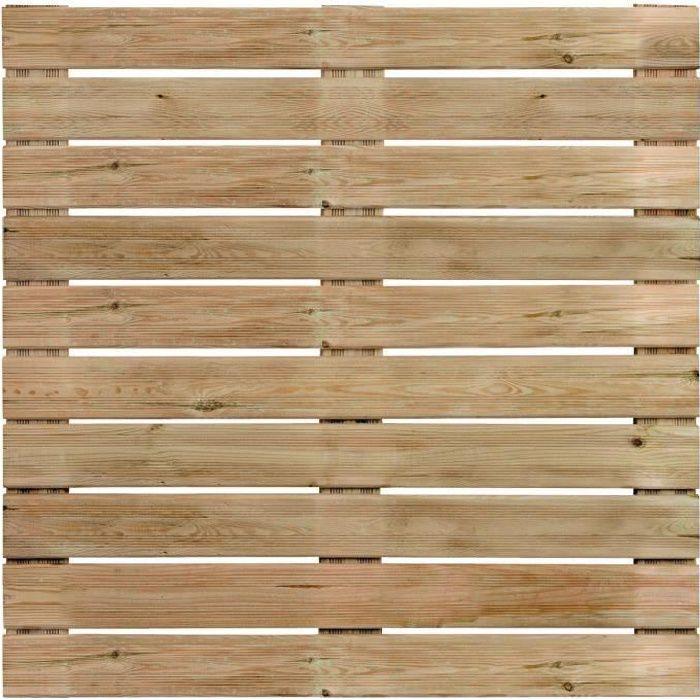 Dalle de terrasse en bois motif droit 100cm achat for Dalle de terrasse en bois 1mx1m