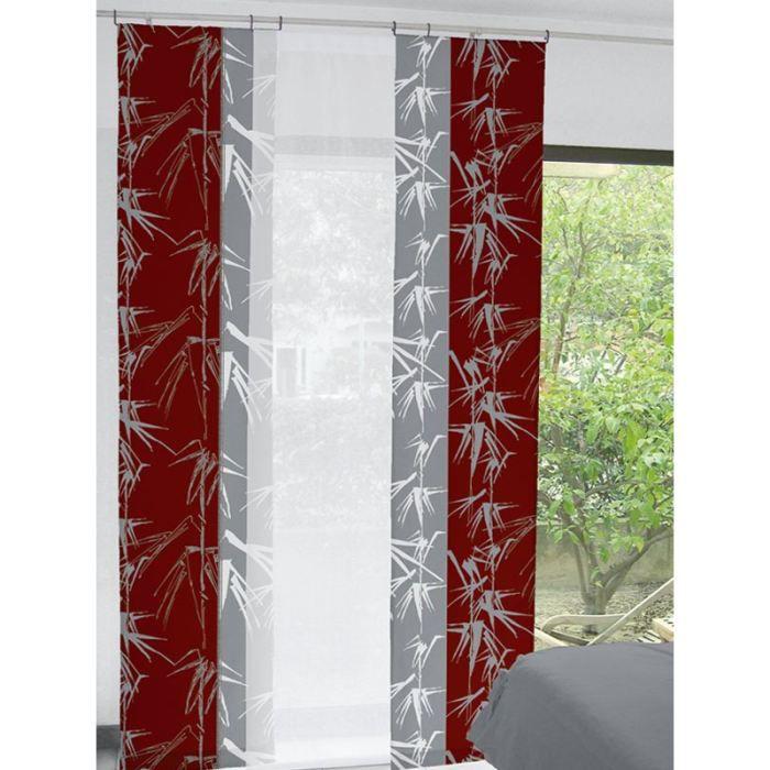 panneau japonais 60x240 cm roseaux rouge achat vente. Black Bedroom Furniture Sets. Home Design Ideas