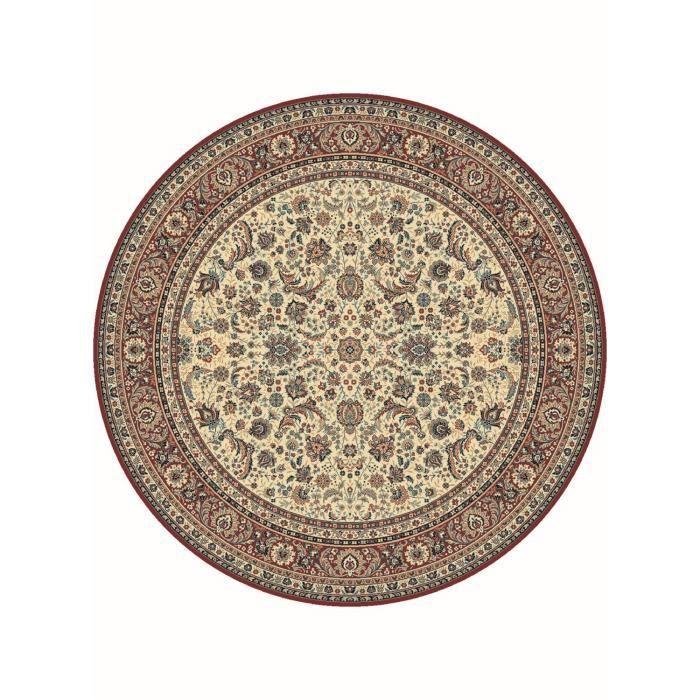 tapis de rond s kazbah rond 11 rouge 170x170 en achat vente tapis cdiscount. Black Bedroom Furniture Sets. Home Design Ideas