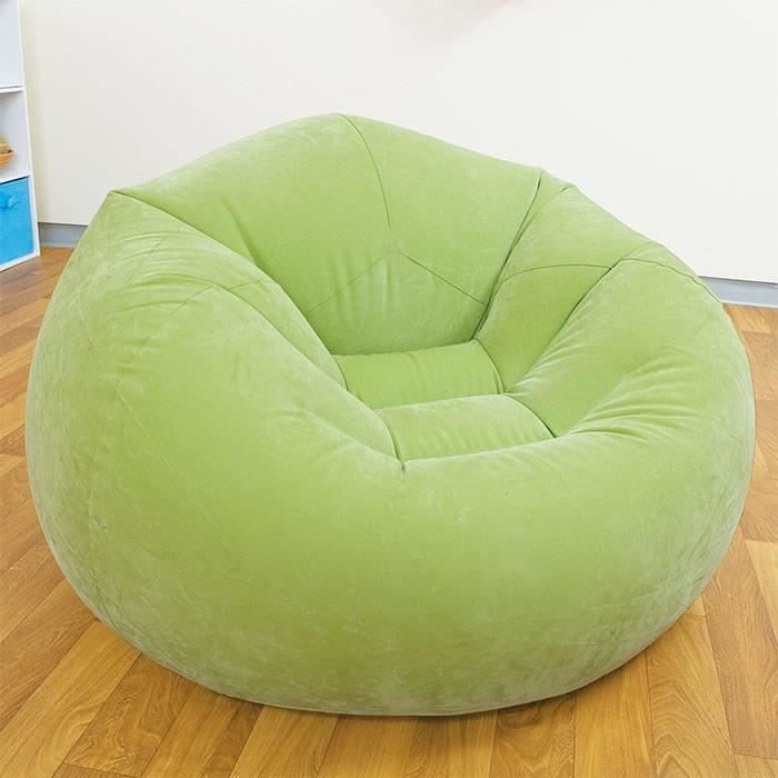 pouf si ge fauteuil gonflable design et color vert achat vente pouf poire soldes. Black Bedroom Furniture Sets. Home Design Ideas