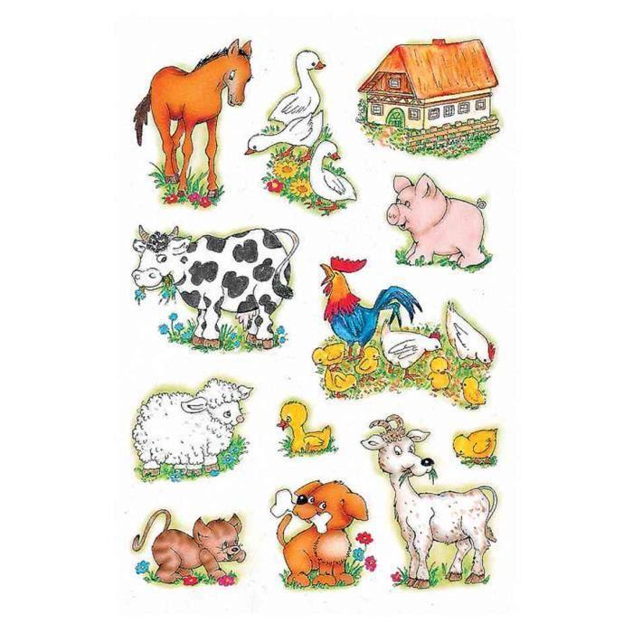 Sticker decor animaux de la ferme achat vente for Cdiscount decoration