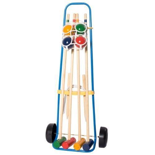 hudora jeu de croquet pour 4 joueurs avec chariot achat vente jeu de croquet cdiscount. Black Bedroom Furniture Sets. Home Design Ideas