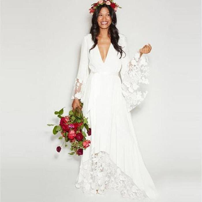 Robe mariee boheme achat vente robe mariee boheme pas for Robes de mariage pour la plage