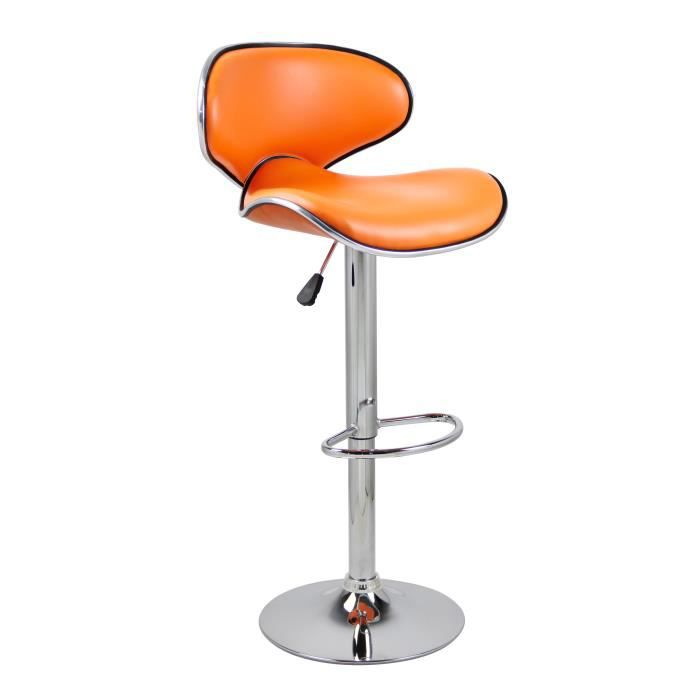 Tabouret de bar folk orange achat vente tabouret cdiscount - Tabouret de bar cdiscount ...