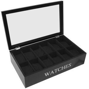 coffret de rangement pour montres achat vente pas cher. Black Bedroom Furniture Sets. Home Design Ideas