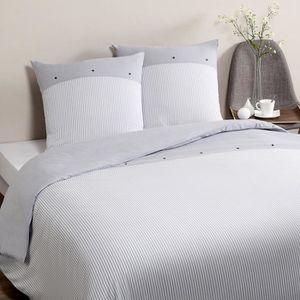 housse de couette 220x240 blanche achat vente housse. Black Bedroom Furniture Sets. Home Design Ideas