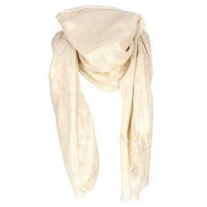 echarpe foulard etole mariage ivoire lurex - Etole Beige Mariage