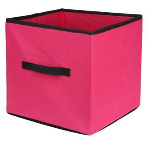 cube de rangement tissu achat vente cube de rangement tissu pas cher soldes cdiscount. Black Bedroom Furniture Sets. Home Design Ideas