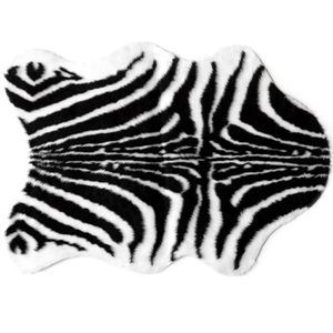 Tapis salon peau de b te z bre universol achat vente tapis cdiscount - Tapis peau de zebre ...