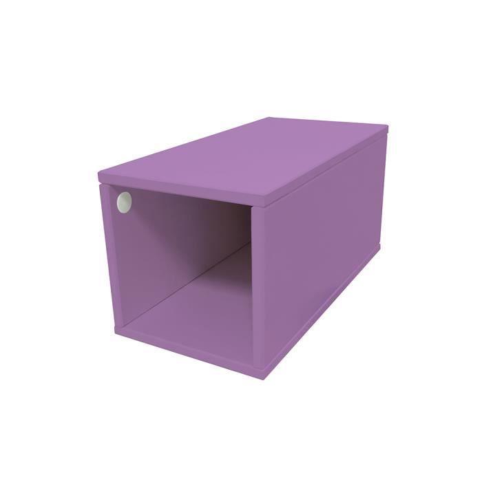 Cube de rangement bois largeur 25 cm achat vente petit - Meuble cuisine 25 cm largeur ...