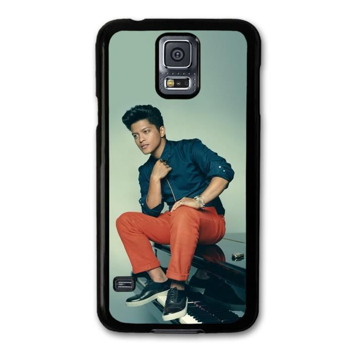 bruno mars sitting on piano portrait coque pour samsung galaxy s5 achat housse tui pas cher. Black Bedroom Furniture Sets. Home Design Ideas