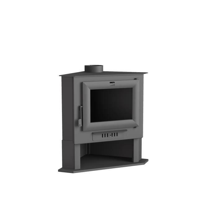 ch 5 po le bois de coin en acier achat vente po le insert foyer ch 5 po le bois de. Black Bedroom Furniture Sets. Home Design Ideas