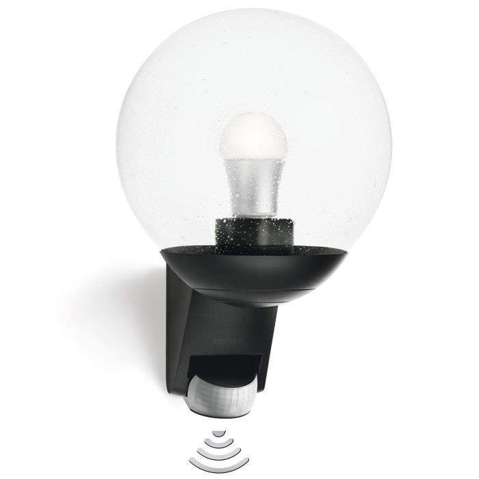 P40 lampe avec detecteur exterieur l 585 noir achat for Lampe exterieur avec detecteur