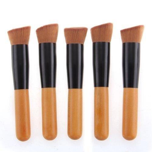 5 pinceau brosse plat blush fard joues fond de teint poudre libre maquillage achat vente. Black Bedroom Furniture Sets. Home Design Ideas