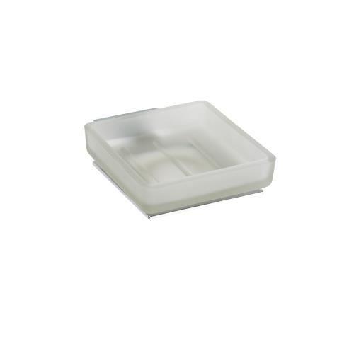 Porte savon en verre plaza 13x10x4 5 cm achat vente distributeur de savon porte savon en for Porte savon en verre