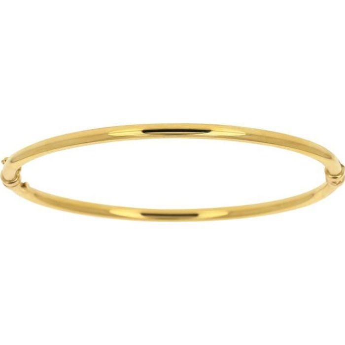 bracelet or jaune 18 carats femme. Black Bedroom Furniture Sets. Home Design Ideas