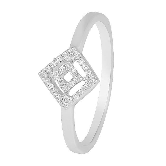 bague carr diamants en or blanc blanc achat vente. Black Bedroom Furniture Sets. Home Design Ideas