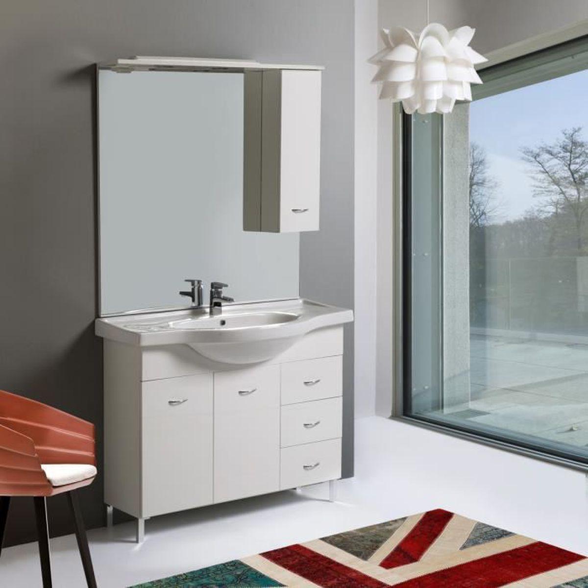 Meuble salle de bain 105 cm achat vente meuble salle for Ou trouver meuble salle de bain