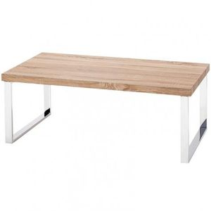 Table basse pied en chrome achat vente table basse for Table basse pied bois