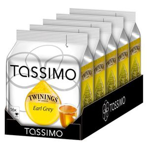THÉ Tassimo Twinings Earl Grey 16 dosettes x 5 pièces