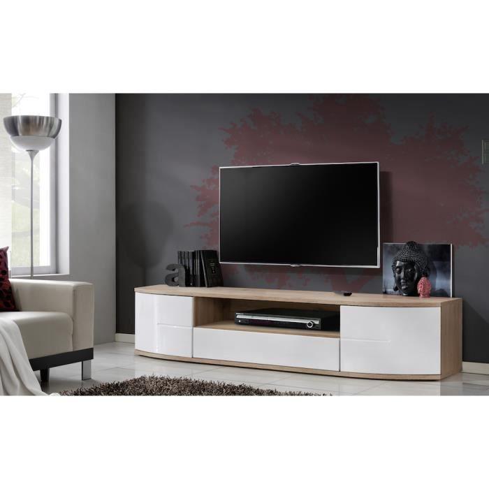 meuble tv ontario grand modèle. banc tv design corps chêne ... - Grand Meuble Tv Design