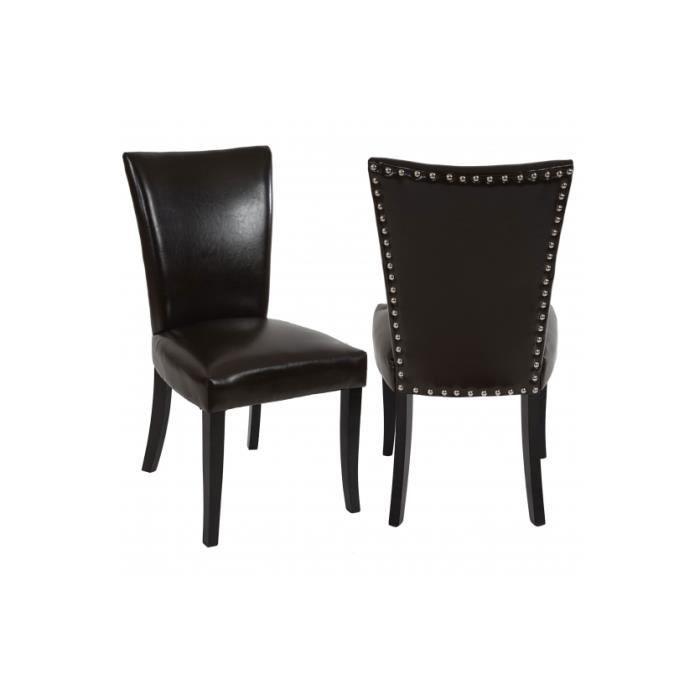 Chaises de salle manger lot de 2 florencia brun achat for Chaise de salle a manger brun