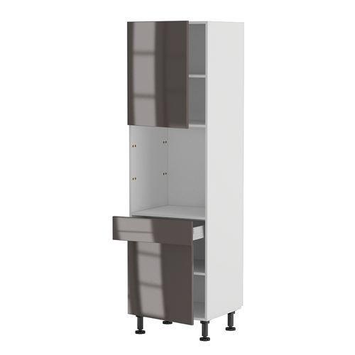 caisson cuisine bois meuble de cuisine bas 2 portes gris. Black Bedroom Furniture Sets. Home Design Ideas