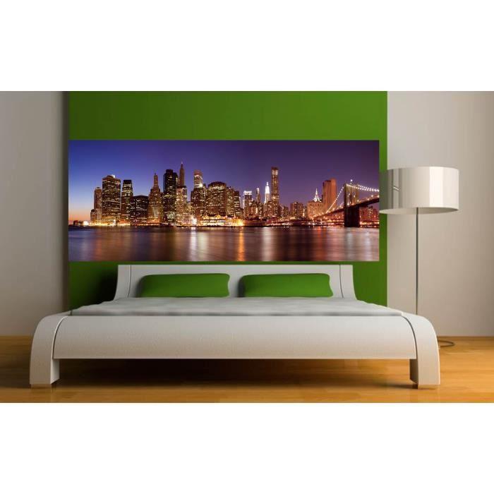 stickers t te de lit d co chambre new york dime achat vente stickers cdiscount. Black Bedroom Furniture Sets. Home Design Ideas