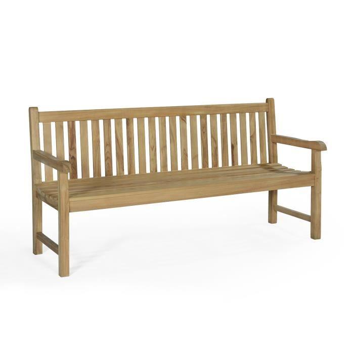 banc en teck ecograde londres 180 cm achat vente banc d 39 ext rieur banc en teck londres 180. Black Bedroom Furniture Sets. Home Design Ideas