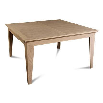 Table carr e moderne en ch ne massif achat vente table - Table sejour carree ...