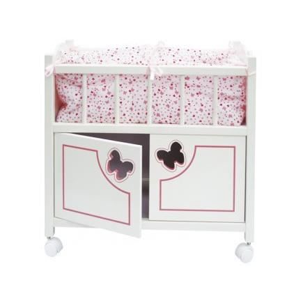 Lit en bois papillon avec armoire calinou a achat for Lit adulte avec armoire