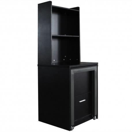 commode bureau miguel noir achat vente commode de chambre commode bureau miguel noir. Black Bedroom Furniture Sets. Home Design Ideas