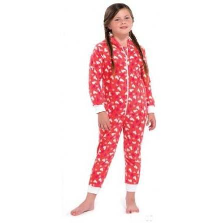 grenouill re enfant fille polaire pyjama rouge achat. Black Bedroom Furniture Sets. Home Design Ideas