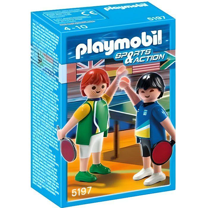 playmobil 2 joueurs de tennis de table achat vente kit sport de raquettes 2 joueurs de. Black Bedroom Furniture Sets. Home Design Ideas