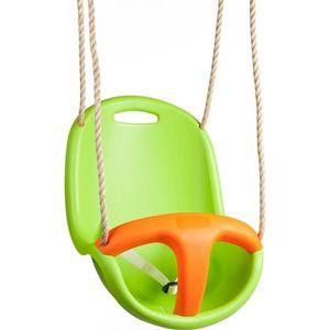 AGRÈS DE BALANÇOIRE Siége pour bébé Amca Siège vert, sécurités orange