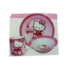 Set petit dejeuner hello kitty wild achat vente for Set petit dejeuner porcelaine