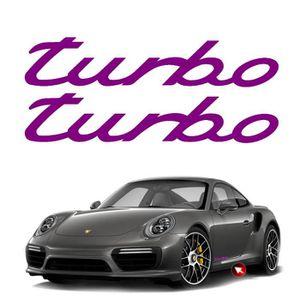 DÉCORATION VÉHICULE 2 stickers TURBO – BORDEAU – 300 x 57 mm - Porsche