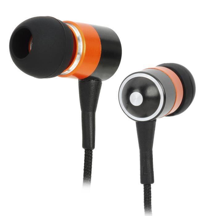 iphone mp3 couteurs intra auriculaires orange noir. Black Bedroom Furniture Sets. Home Design Ideas