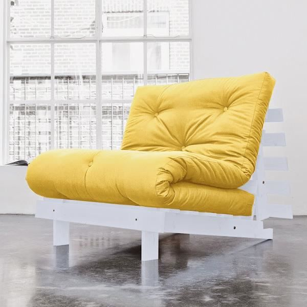 fauteuil convertible koo 90 gris futon amarillo achat. Black Bedroom Furniture Sets. Home Design Ideas