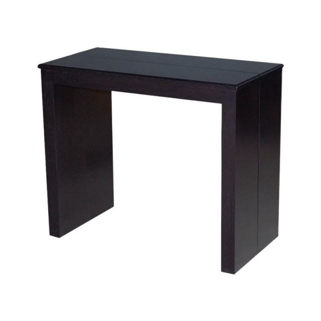 Table console extensible kelly marron wenge achat for Table de salle a manger wenge
