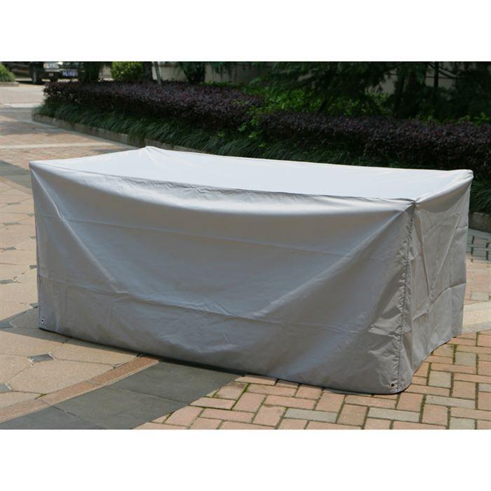 Housse de protection pour tables 185 x 105 x 80 cm achat for Housse de protection jardin