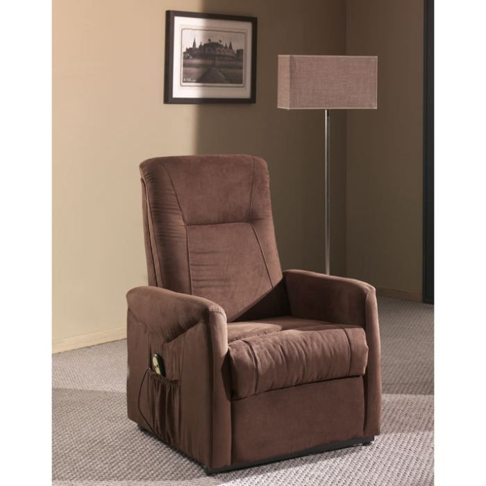 Fauteuil de relaxation lectrique microfibre re achat vente fauteuil c - Fauteuils relax electrique ...