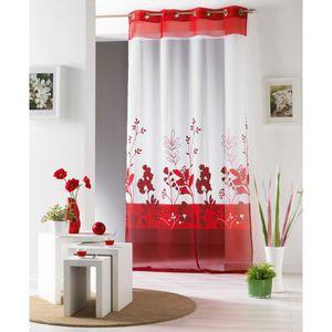 voilages hauteur 260 achat vente voilages hauteur 260 pas cher cdiscount. Black Bedroom Furniture Sets. Home Design Ideas